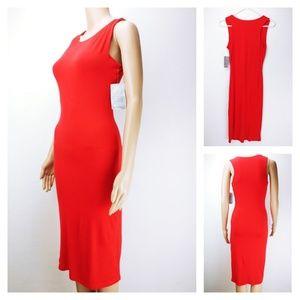 🌵2/30 Velvet Torch red sleeveless dress